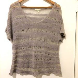 Eileen Fisher Linen Knit Top - Size Small